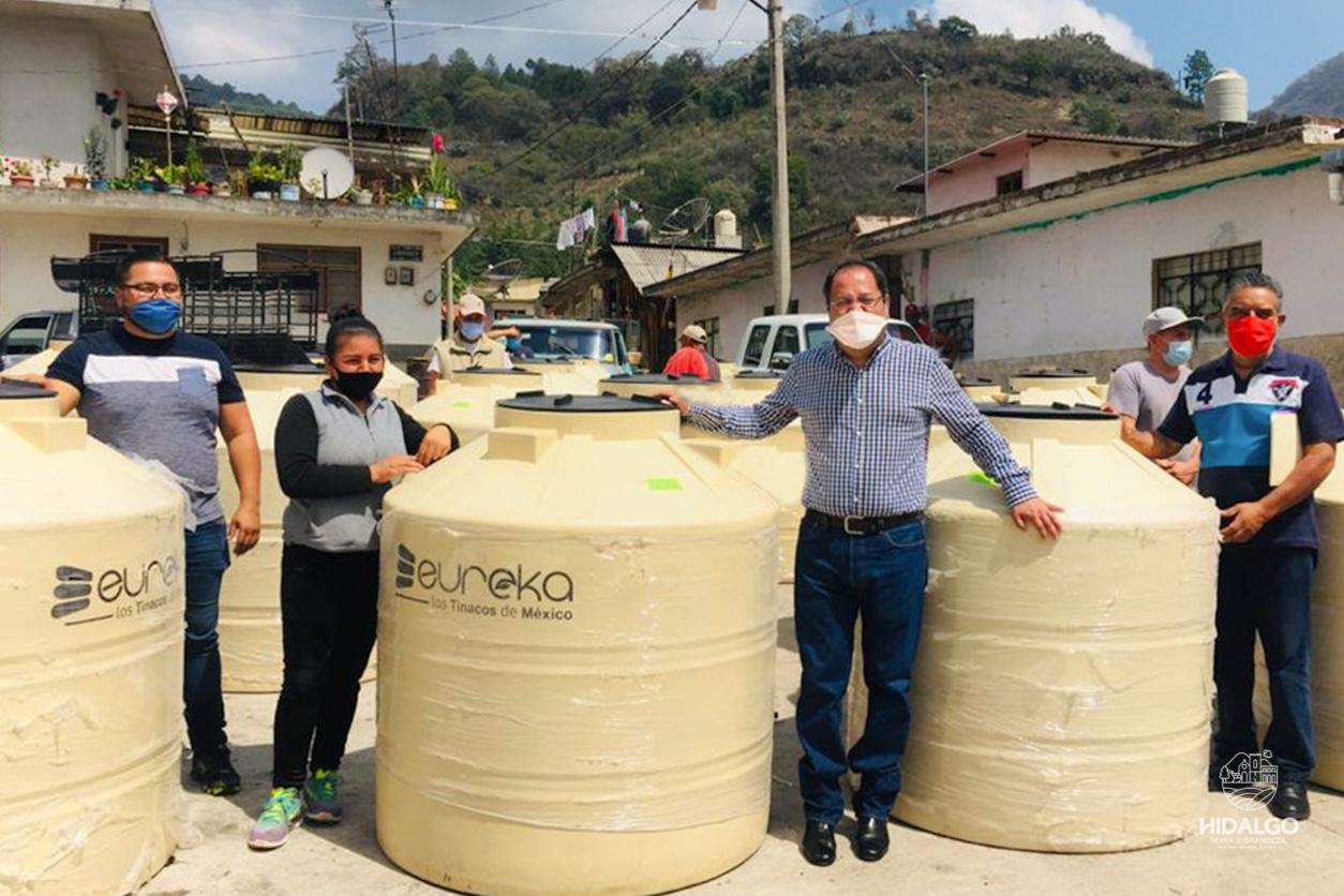 Entrega de material subsidiado en El Chaparro