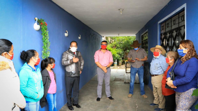 Reunión con vecinos de la calle Providencia, Col. Fabrica la Virgen