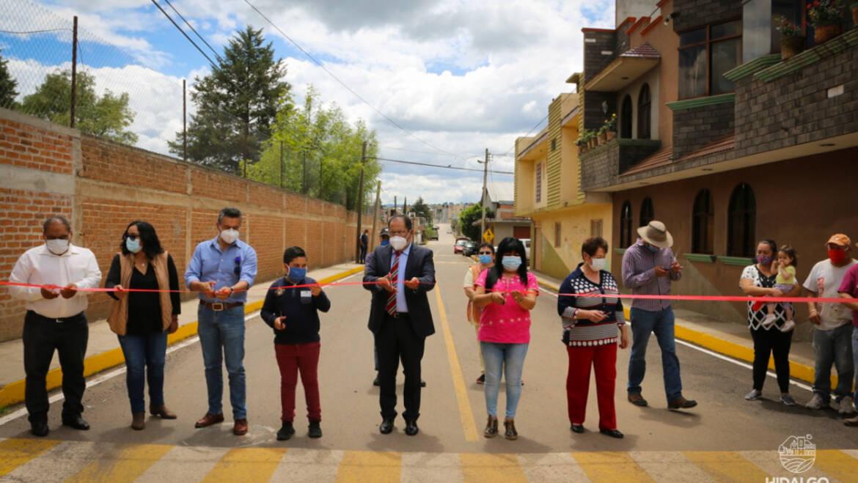 Inauguración de pavimentación de la calle Josefa Ortiz de Domínguez y arranque de pavimentación de calle Buenos Aires