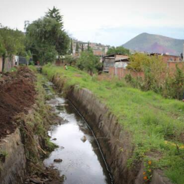 Arranque de construcción de drenaje pluvial de la colonia Independencia