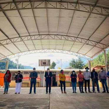 Inauguración de Techumbre de la Esc. Primaria Miguel Hidalgo