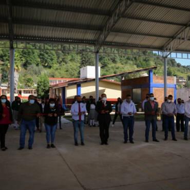 Inauguración de techumbre de la Telesecundaria 379 de la Tenencia de San Matías