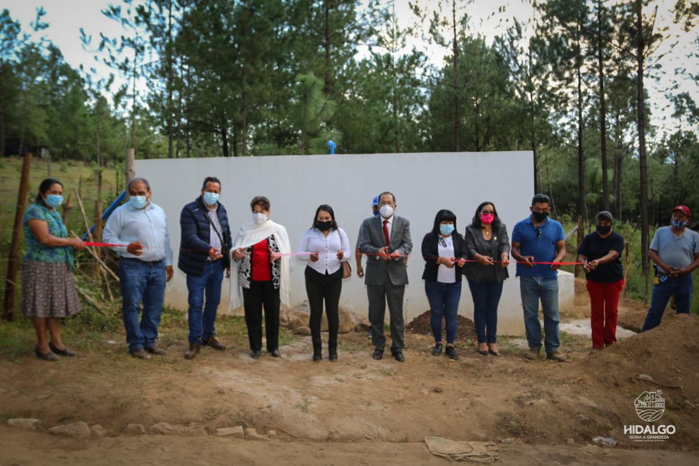 Inauguración de tanque de almacenamiento de agua en San Bartolo