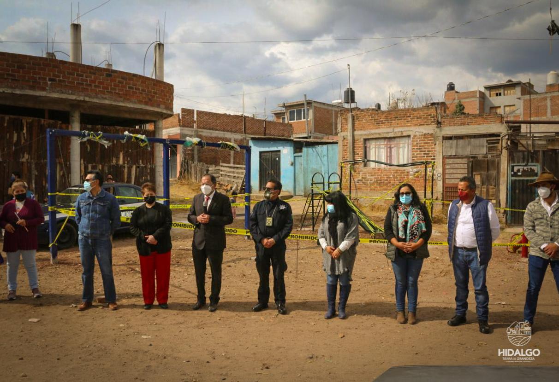 Inicio de trabajos en el parque vecinal de la calle Privada de Linares